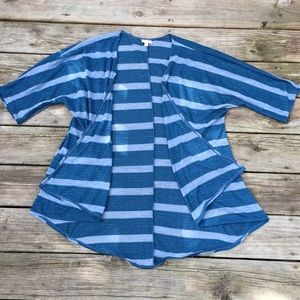 LulaRue blue striped cardigan
